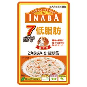 INABA 低脂肪 7歳からのとりささみ&温野菜 RD-48 80g |a-pet