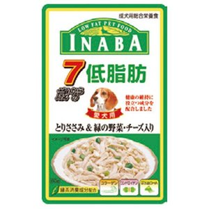 INABA 低脂肪 7歳からのとりささみ&緑の野菜 チーズ入り RD-49 80g |a-pet