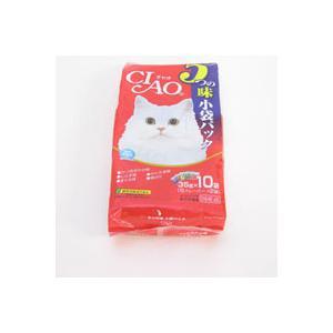 【A級トリマーおすすめ】  チャオ 5つの味 小袋パック 350g 10袋|a-pet