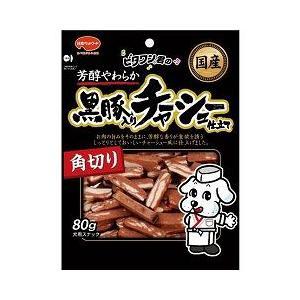日本ペットフード 犬用おやつ ビタワン君の黒豚入りチャーシュー仕立て 角切り 80g|a-pet