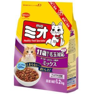 MIO ミオドライミックス 毛玉対応 11歳以上 かつお味 1.2kg |a-pet
