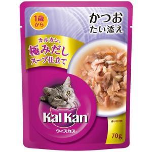 カルカンウィスカス 極みだしスープ仕立て 1歳から かつお たい添え 70g |a-pet
