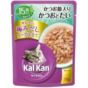 カルカンウィスカス 極みだしスープ仕立て 15歳から かつお節入りかつおとたい 70g |a-pet