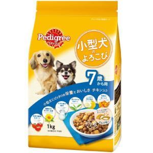 ペディグリー 小型犬のよろこび 7歳から用 チキン入り 1kg PK4 |a-pet
