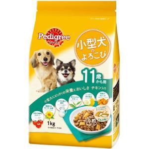 ペディグリー 小型犬のよろこび 11歳から用 チキン入り 1kg PK5 |a-pet