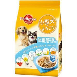 ペディグリー 小型犬のよろこび 体重管理用 チキン入り 1kg PK6 |a-pet