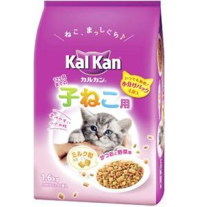 カルカンドライ 12ヶ月までの子ねこ用 かつおと野菜味ミルク粒入り 1.6kg KD24 |a-pet