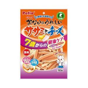 ヤマヒサ ペティオ 犬用おやつ おなかにうれしい ササミとチーズ 7歳からの健康ケア 150g|a-pet