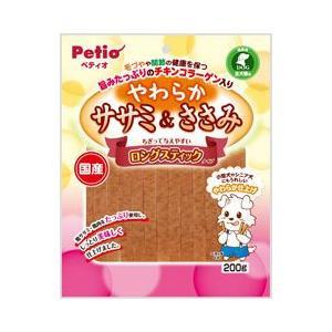 ヤマヒサ ペティオ 犬用おやつ やわらかササミ&ささみ ロングスティックタイプ 200g|a-pet
