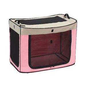 マルカン 犬用ゲージ ポータブルケージ どこでもワンタッチケージ M ピンク DP-670|a-pet