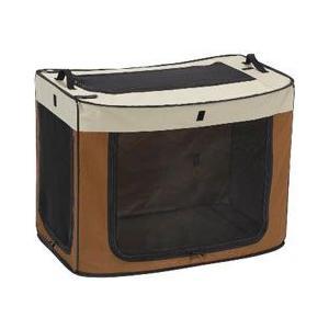 マルカン 犬用ゲージ ポータブルケージ どこでもワンタッチケージ M ブラウン DP-683|a-pet
