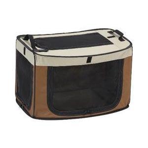 マルカン 犬用ゲージ ポータブルケージ どこでもワンタッチケージ L ブラウン DP-684|a-pet