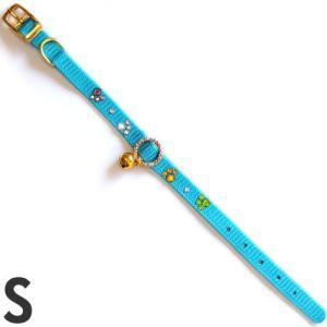 岡野製作所 猫用首輪 ナイロンストーンカラー S ON548 ブルー |a-pet