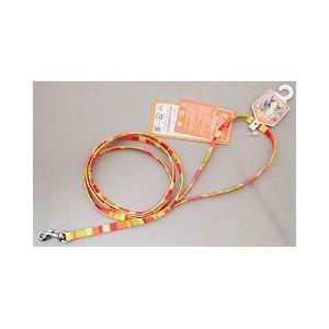 岡野製作所 犬用リード レインボー リード ミニ 猫・超小型犬用 オレンジ a-pet