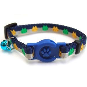 岡野製作所 猫用首輪 にゃんこカラー ネイビーブルー |a-pet