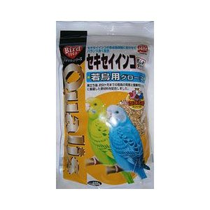 クオリス 鳥の餌 セキセイインコ若鳥用 グロース 皮ムキタイプ 400g|a-pet