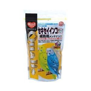 クオリス 鳥の餌 セキセイインコ成鳥用 メンテナンス 皮ムキタイプ 400g|a-pet