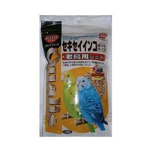 クオリス 鳥の餌 セキセイインコ老鳥用 シニア 皮ツキタイプ 400g|a-pet