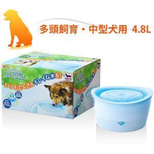 GEX(ジェックス) 循環式給水器 ピュアクリスタル 多頭飼育・中型犬用 4.8L |a-pet