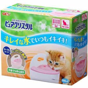 ジェックス 猫用循環式給水器 ピュアクリスタル サークル&ケージ 子猫用 |a-pet
