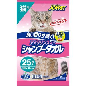 JOYPET アミノリンスインシャンプータオル 猫用 微香性 25枚|a-pet