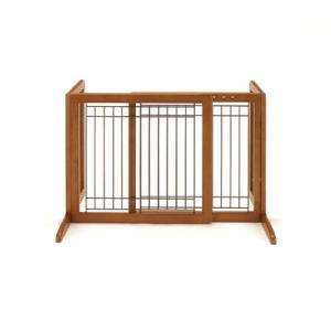 送料無料!【A級トリマーおすすめ】  リッチェル ペット用 木製おくだけゲート|a-pet