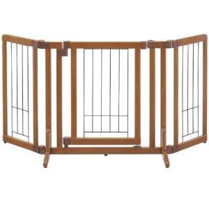 リッチェル 犬用ゲート 木製おくだけドア付ゲート S 自立タイプ 小型犬用 |a-pet