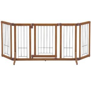 リッチェル 犬用ゲート 木製おくだけドア付ゲート M 自立タイプ 小型犬用 |a-pet