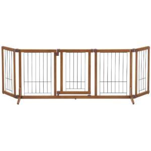 リッチェル 犬用ゲート 木製おくだけドア付ゲート L 自立タイプ 小型犬用 |a-pet