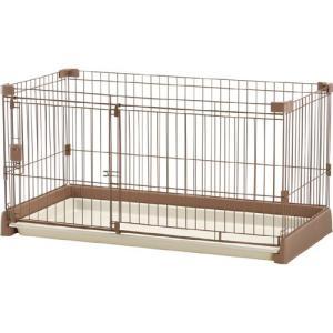 リッチェル ペット用 お掃除簡単サークル 120-60 超小型犬・小型犬用 ブラウン |a-pet