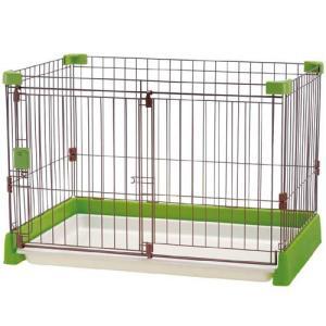 リッチェル ペット用サークル お掃除簡単サークル 超小型犬・小型犬用 グリーン |a-pet