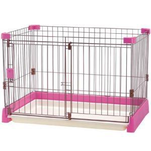 リッチェル ペット用サークル お掃除簡単サークル 超小型犬・小型犬用 ピンク |a-pet