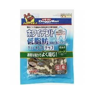 ドギーマンハヤシ 犬用おやつ ホワイデント 低脂肪 チューイング チップ ミルク&ハーブ 160g|a-pet