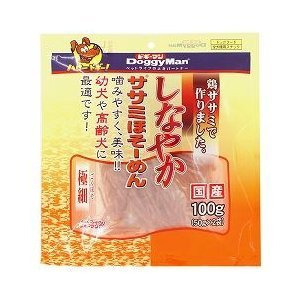 ドギーマンハヤシ 犬用おやつ しなやか ササミほそーめん 極細 100g(50g×2袋)|a-pet