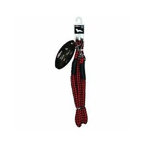 ドギーマンハヤシ 犬用リード お散歩リード S 小型犬用 体重10kg以下 137cm MD2092 赤×黒 a-pet