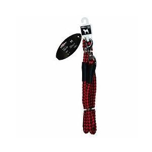 ドギーマンハヤシ 犬用リード お散歩リード M 中型犬用 体重20kg以下 144cm MD2093 赤×黒 a-pet