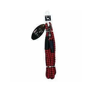 ドギーマンハヤシ 犬用リード お散歩リード L 大型犬用 体重30kg以下 144cm MD2094 赤×黒 a-pet