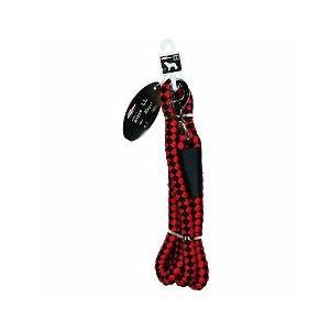 ドギーマンハヤシ 犬用リード お散歩リード LL 超大型犬用 体重40kg以下 160cm MD2095 赤×黒 a-pet