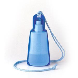 【A級トリマーおすすめ】  お散歩グッズ ドギーマン 携帯ボトル ペットドリンク S ブルー|a-pet