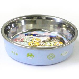 ステンレス食器ごはんにゃわん 猫用 ブルー |a-pet