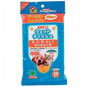 ドギーマンハヤシ 犬猫用ウェットティッシュ ドギーグッズ バリュー ペット専用ウェットティッシュ 30枚 |a-pet