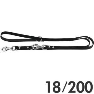 ファープラスト 犬用リード ナチュラルGA 2頭引きリード 18/200 ブラック 75310917 |a-pet