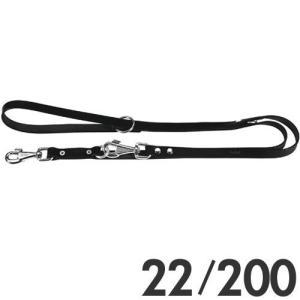 ファープラスト 犬用リード ナチュラルGA 2頭引きリード 22/200 ブラック 75318917 |a-pet
