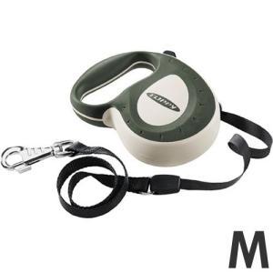 ファープラスト 犬用リード 伸縮リード フリッピーコントローラー M 5mテープ グリーン 75050039 |a-pet