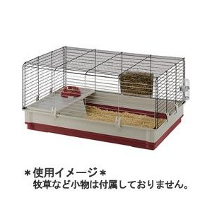 ファープラスト ウサギ用ケージ クロリック L レッド 57070570|a-pet