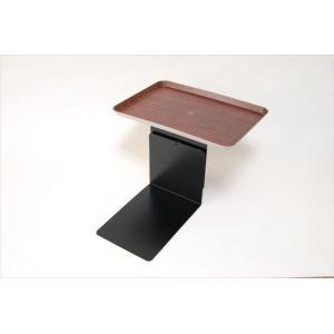 「リモて」濃い木目(小サイズ)【ティッシュBOX付き】(ベッド用サイドテーブル) a-pi 03