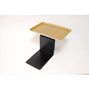 ベッドサイドテーブル「りもて」(スマホ、リモコン、文庫本用)うすい木目(小サイズ)ベッドと同じに、高さ合わせ調節可能。暗やみOK、こぼれ止め付きベッド棚。|a-pi|02