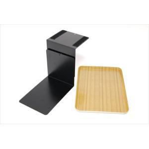ベッドサイドテーブル「りもて」(スマホ、リモコン、文庫本用)うすい木目(小サイズ)ベッドと同じに、高さ合わせ調節可能。暗やみOK、こぼれ止め付きベッド棚。|a-pi|03