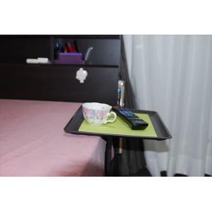 「リモて」グレーの木目(大サイズ)(ベッド用サイドテーブル)|a-pi|09