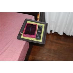「リモて」グレーの木目(大サイズ)【ティッシュBOX付き】(ベッド用サイドテーブル)|a-pi|05